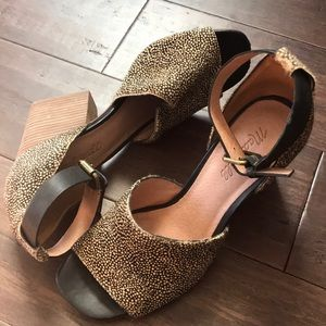 Madewell The Alena Sandal in dotted calf hair